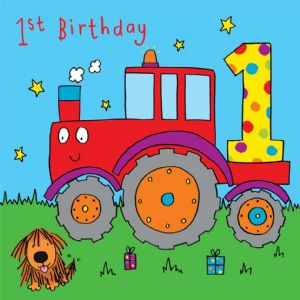Tractor Birthday Card - age 1
